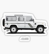 Defender 110 County Version Hardtop Sticker
