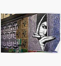 0261 Watching - Graffiti Poster