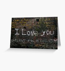 I'll write on all the walls Greeting Card