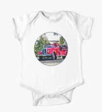 Old Fashioned Fire Truck One Piece - Short Sleeve