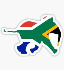 Baby Elephant in Colours of South African Flag Sticker