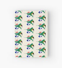 Baby Elephant in Colours of South African Flag Hardcover Journal