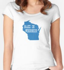 Made in Wisconsin Women's Fitted Scoop T-Shirt
