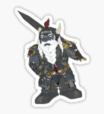 Fantasy dark dwarf design Sticker