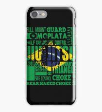 BJJ A To Z Glossary - Brazilian Jiu Jitsu iPhone Case/Skin