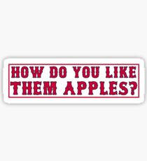 Pegatina ¿Cómo te gustan las manzanas?