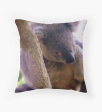 Koala (Phascolarctos cinereus) Throw Pillow
