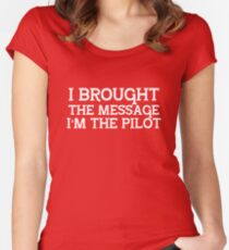 I Brought the Message...  Women's Fitted Scoop T-Shirt