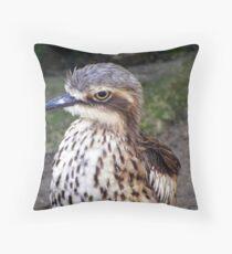 Bush Stone Curlew (Burhinus grallarius) Throw Pillow