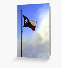 Texas up in smoke Greeting Card