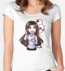 Suzy Lu Character & Moogle Women's Fitted Scoop T-Shirt