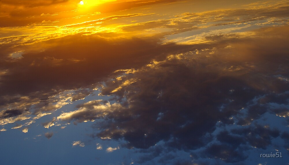 Sunset upside down (Looks like from space) by rowie51