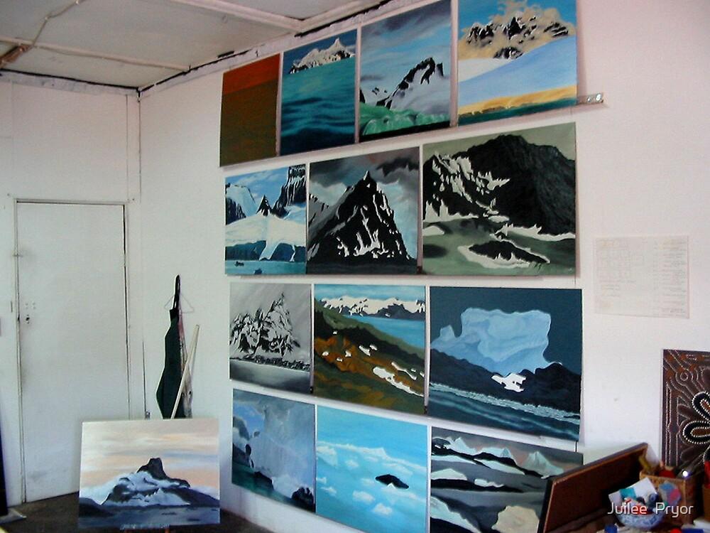 studio wall by Juilee  Pryor