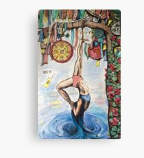 Devotion, the hanged - yoga tarot Canvas Print