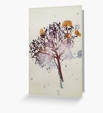 Lacewing Hydrangea in winter Greeting Card