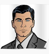 Archer TV Show - His Beautiful Face Poster