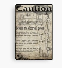 Steampunk Advisory Warning Canvas Print
