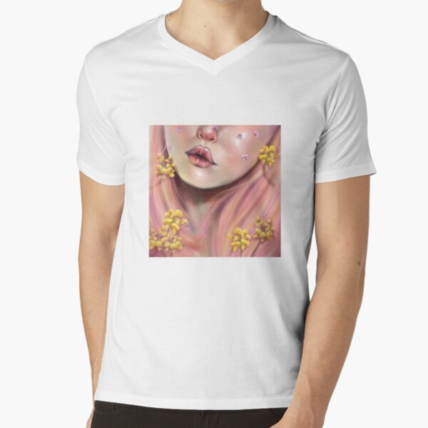 PinkHair V-Neck T-Shirt