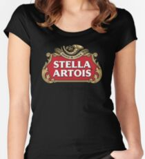 Stella artois classic Women's Fitted Scoop T-Shirt