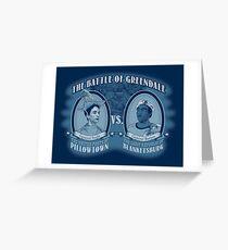 Pillows Vs. Blankets Greeting Card