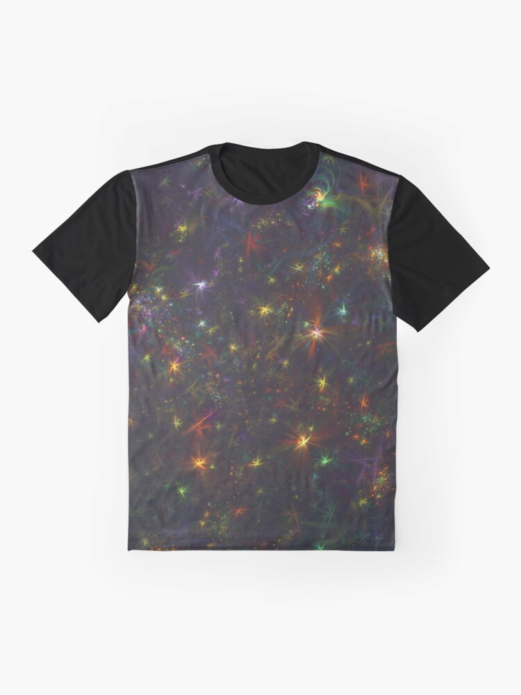 Alternate view of Cosmic fractals Graphic T-Shirt