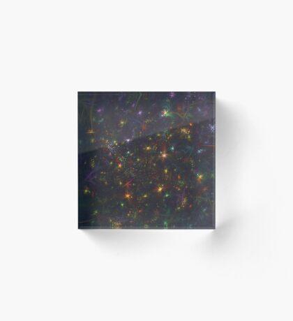 Cosmic fractals Acrylic Block