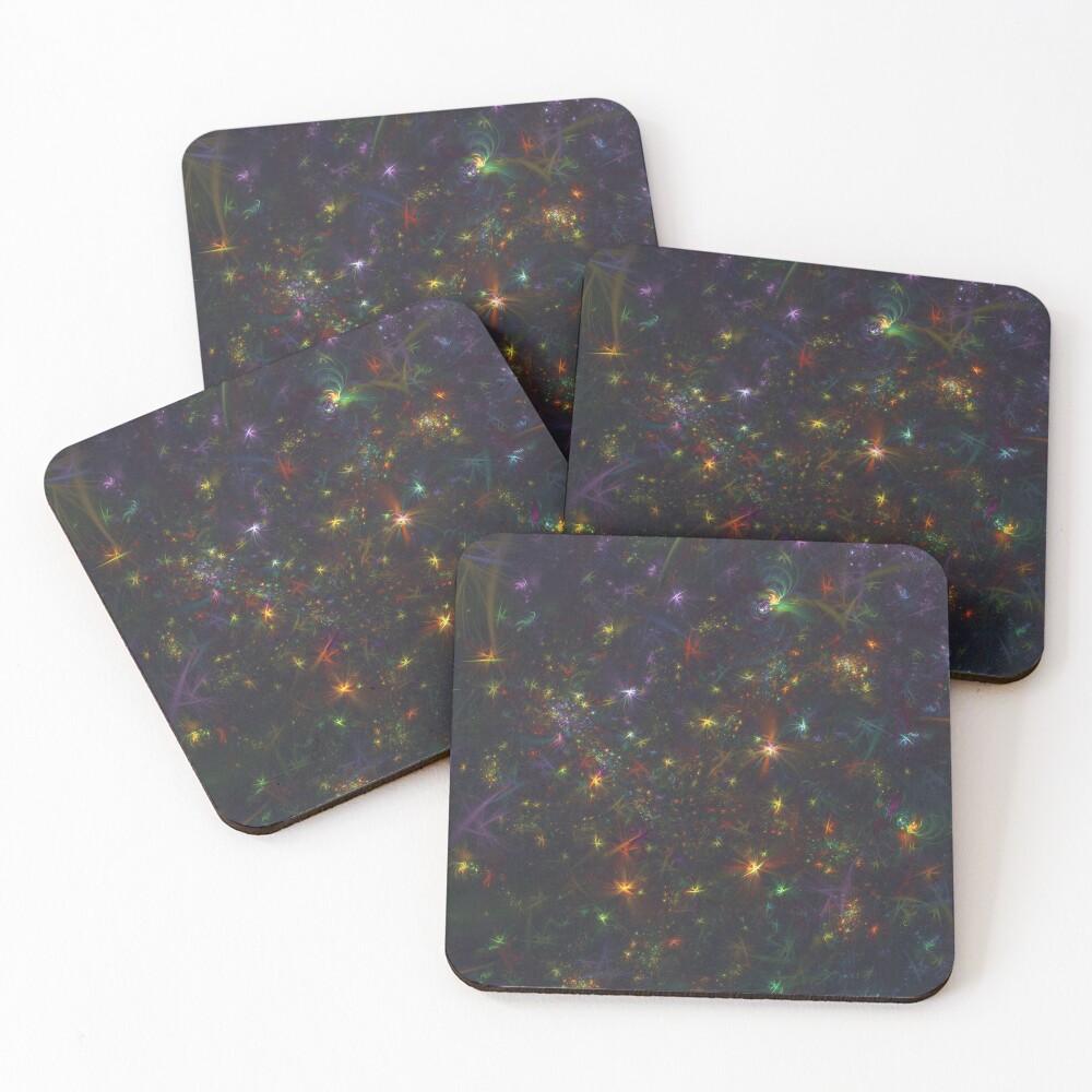 Cosmic fractals Coasters (Set of 4)