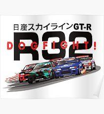 Nissan Skyline R32 DOGFIGHT Poster