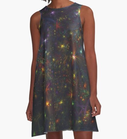 Cosmic fractals A-Line Dress