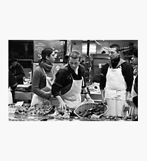 Fish stall, Rue Mouffetard, Paris Photographic Print