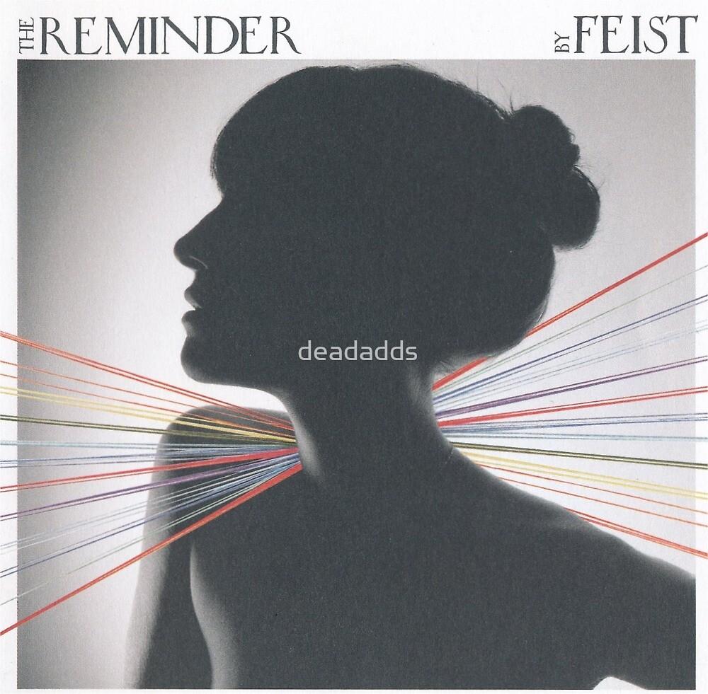 Feist Fan art sticker Reminder cd sleeve by deadadds