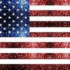 «USA bandera rojo azul destellos brilla» de PLdesign
