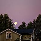 Moon over Swedish home by AntSmith