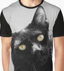 cat eyes, macro portrait black and white Graphic T-Shirt