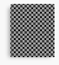 Black & White Graphic Pattern Canvas Print
