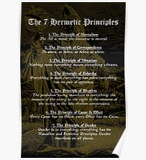 The 7 Hermetic Principles Poster