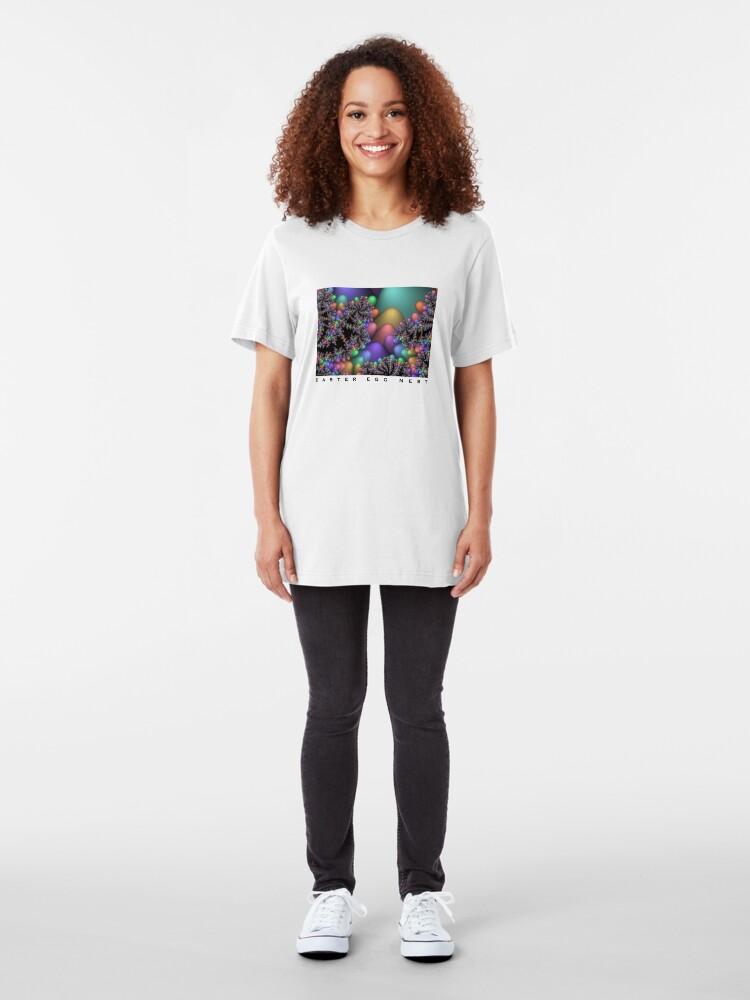 Alternate view of Easter Egg Nest Slim Fit T-Shirt