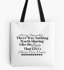 Always Remember Black & White - Avett Brothers Tote Bag