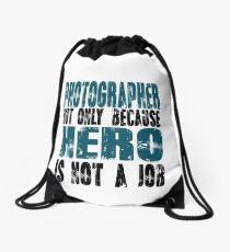 Photographer Hero Drawstring Bag
