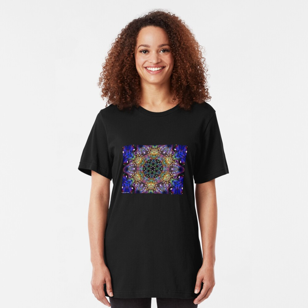 Water Kaleidoscope1 Slim Fit T-Shirt