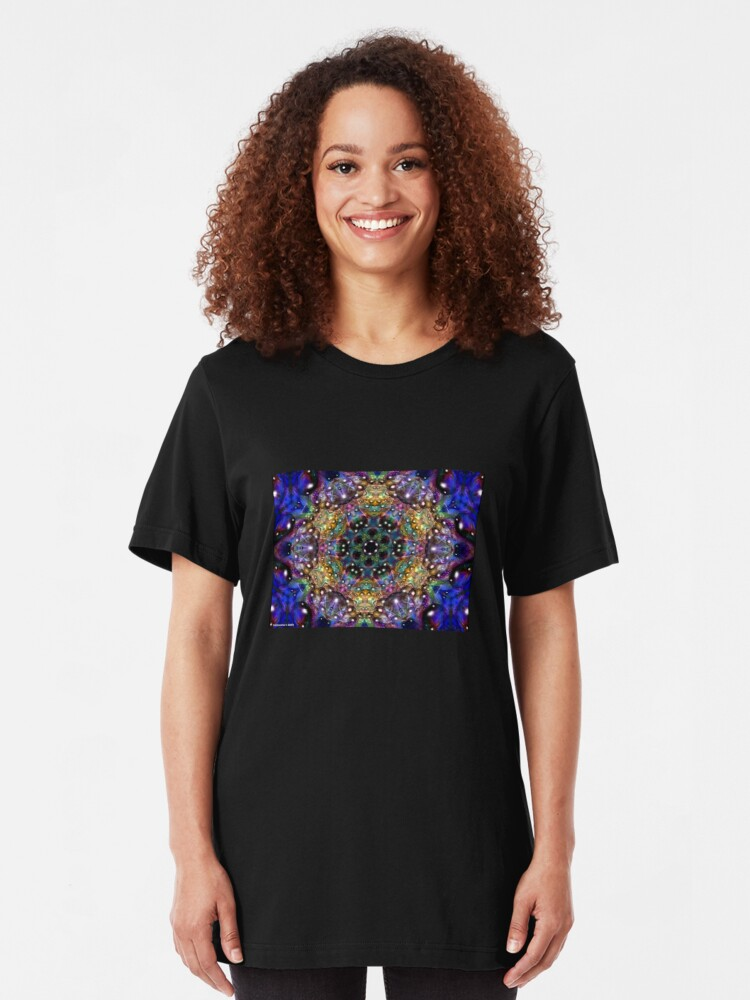 Alternate view of Water Kaleidoscope1 Slim Fit T-Shirt