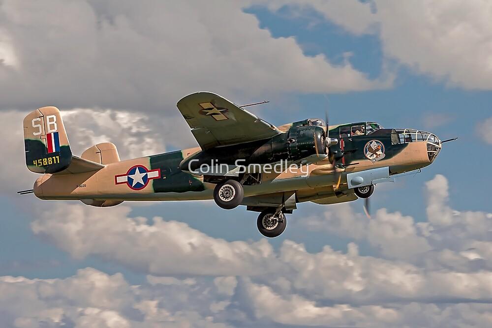 B-25J Mitchell 458811/SB F-AZZU by Colin Smedley