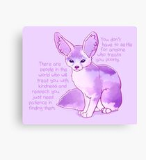 """""""You Don't Have to Settle for Anyone"""" Dawn Sky Fennec Fox Canvas Print"""