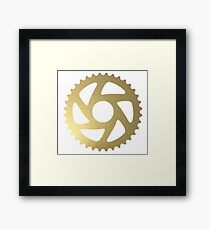 Gold Sprocket Framed Print