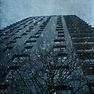 Snow series Tower Block by Nikki Smith (Brown)