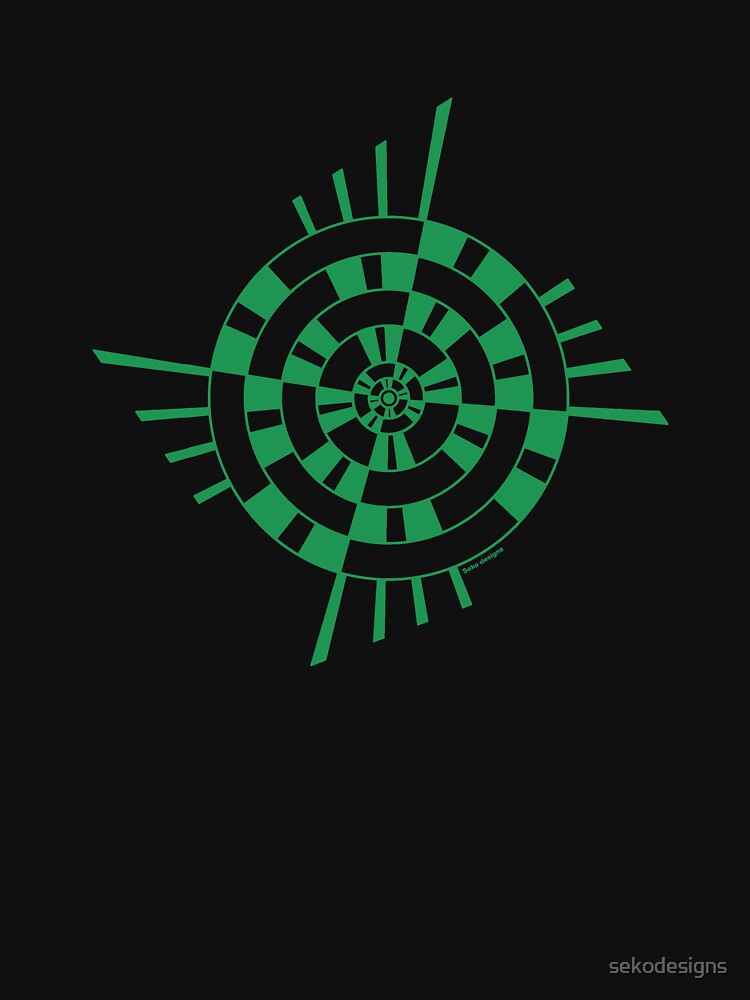 Mandala 1 Green With Envy  by sekodesigns