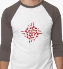 Mandala 1 Colour Me Red Men's Baseball ¾ T-Shirt