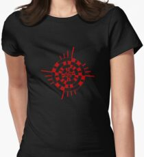 Mandala 1 Colour Me Red Women's Fitted T-Shirt