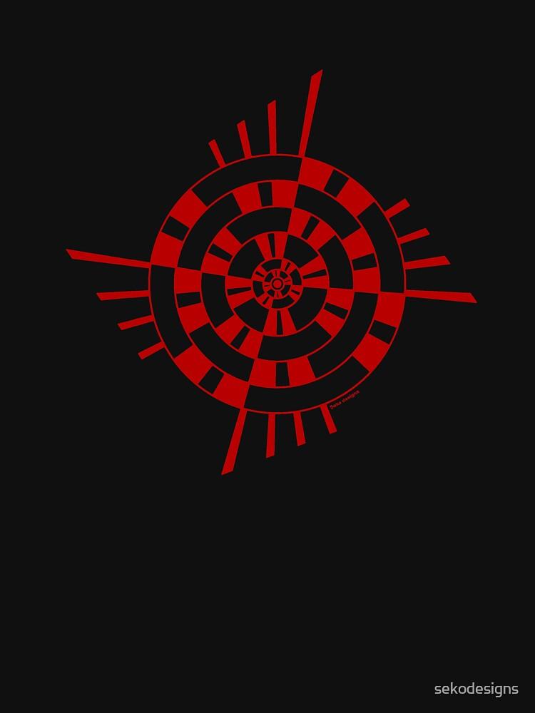 Mandala 1 Colour Me Red by sekodesigns