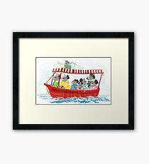 Mouse Family Boat Tour Framed Print